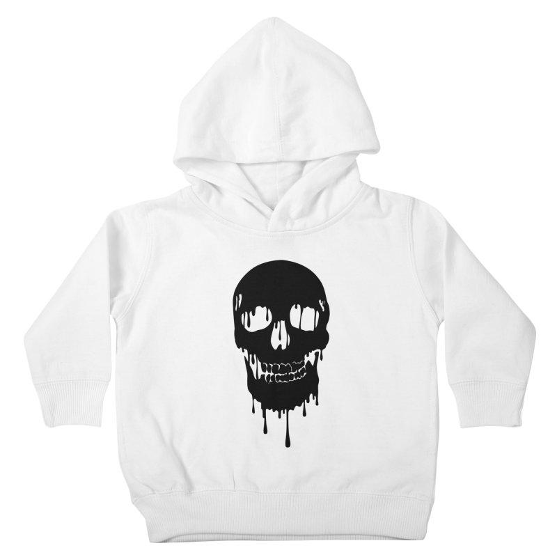 Melted skull - bk Kids Toddler Pullover Hoody by garabattos's Artist Shop