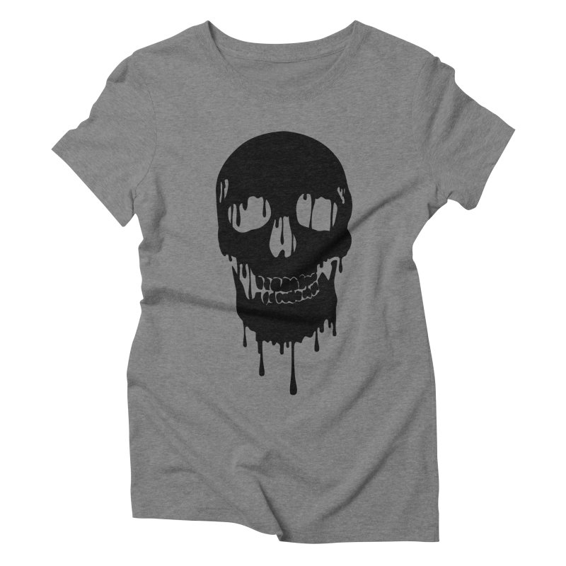 Melted skull - bk Women's Triblend T-Shirt by garabattos's Artist Shop