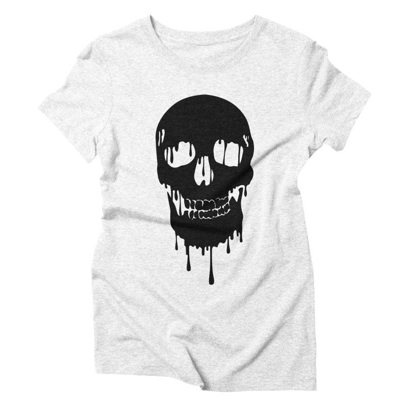 Melted skull - bk Women's Triblend T-shirt by garabattos's Artist Shop