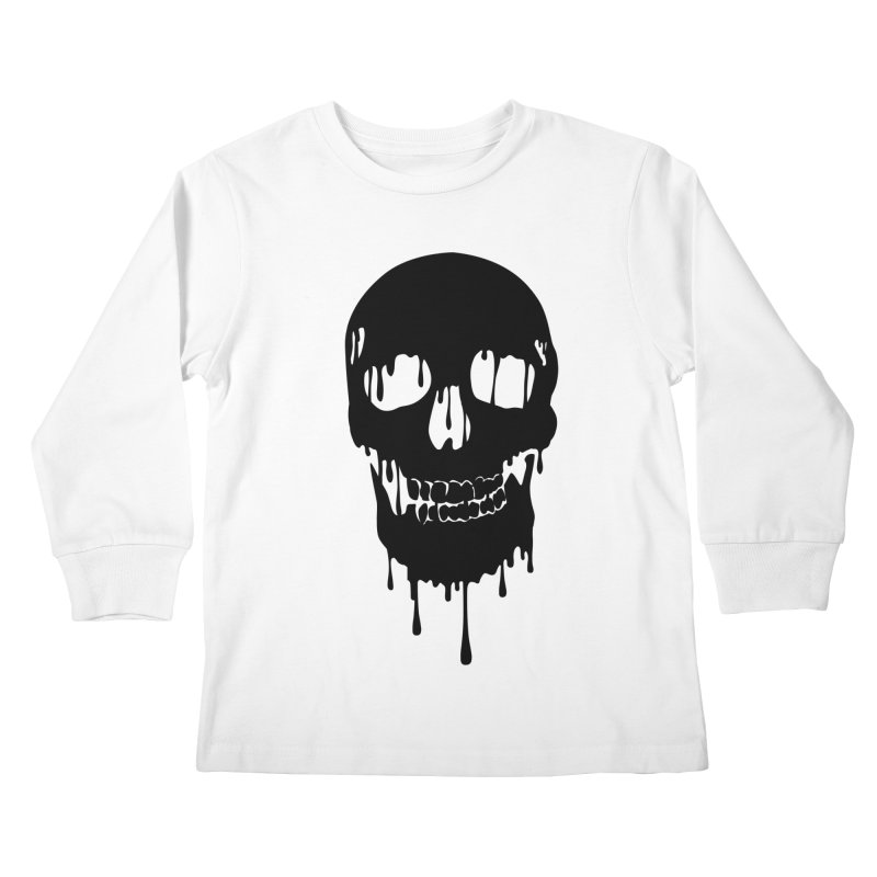 Melted skull - bk Kids Longsleeve T-Shirt by garabattos's Artist Shop