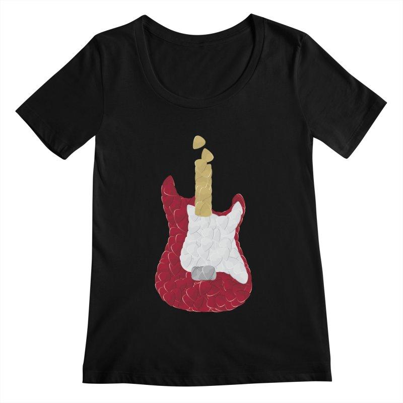 Rock yourself out Women's Scoopneck by garabattos's Artist Shop