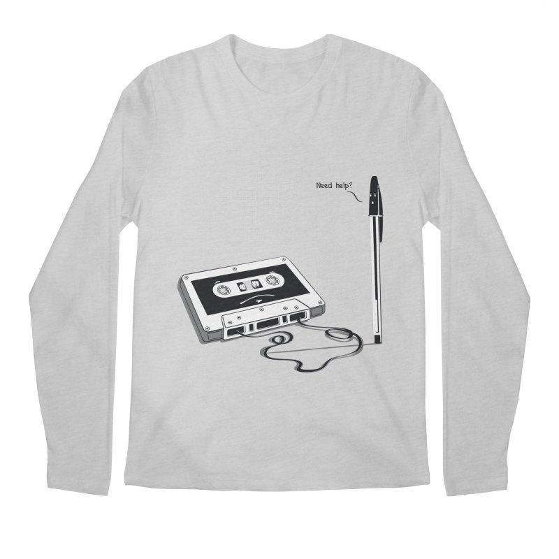 Need help? Men's Longsleeve T-Shirt by garabattos's Artist Shop