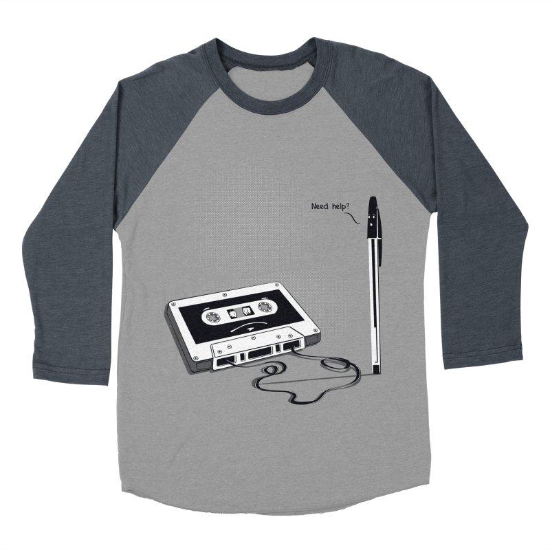 Need help? Men's Baseball Triblend T-Shirt by garabattos's Artist Shop