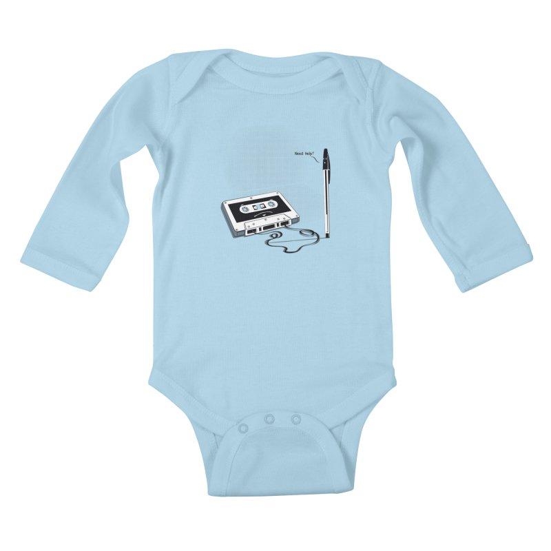 Need help? Kids Baby Longsleeve Bodysuit by garabattos's Artist Shop