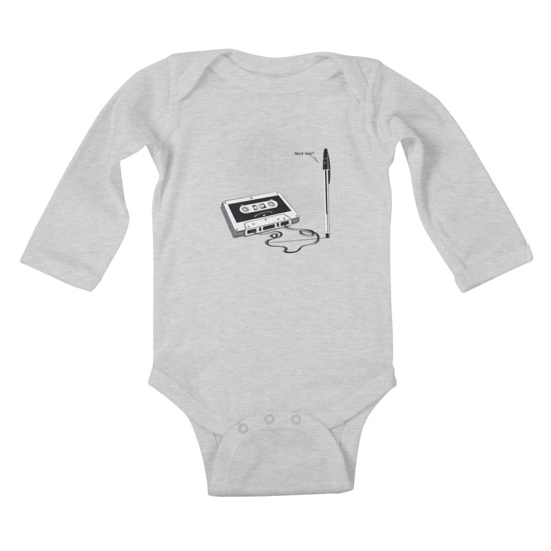 Need help? Kids Baby Longsleeve Bodysuit by garabattos's Artist Shop