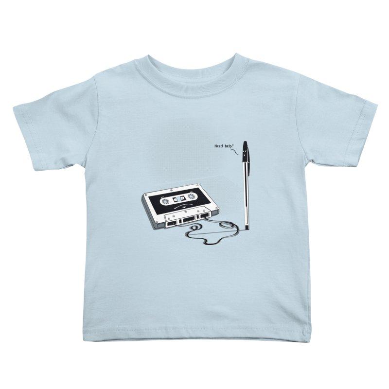 Need help? Kids Toddler T-Shirt by garabattos's Artist Shop