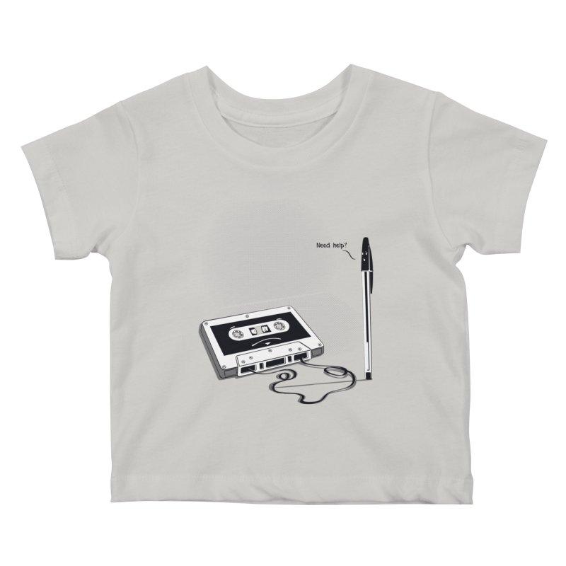 Need help? Kids Baby T-Shirt by garabattos's Artist Shop