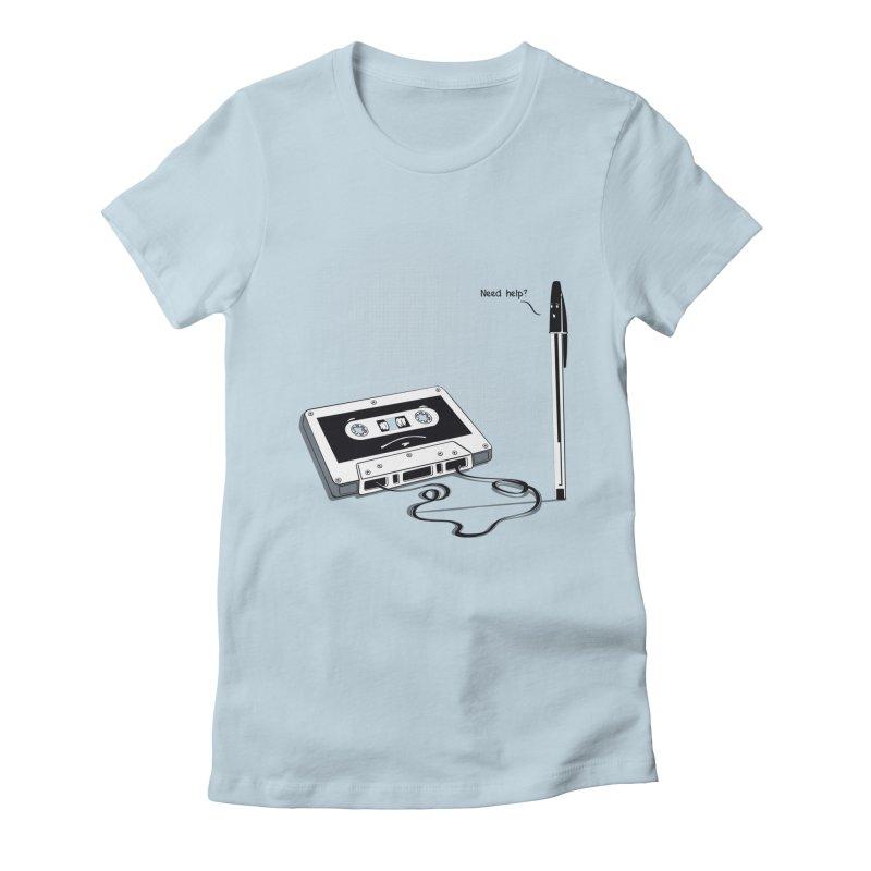 Need help? Women's Fitted T-Shirt by garabattos's Artist Shop