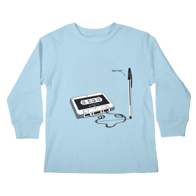 Need help? Kids Longsleeve T-Shirt by garabattos's Artist Shop