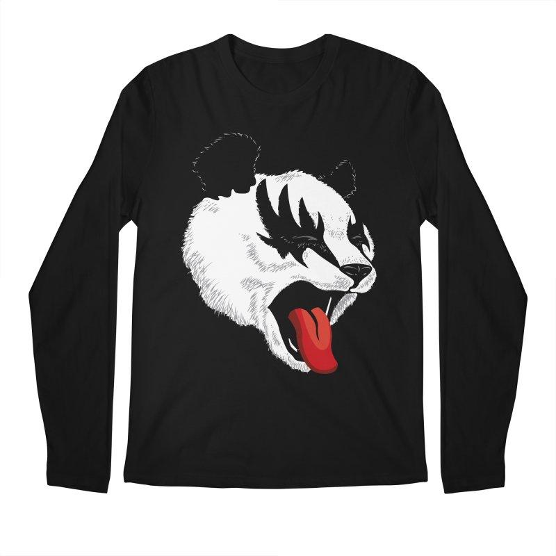 Kiss Panda Men's Longsleeve T-Shirt by garabattos's Artist Shop