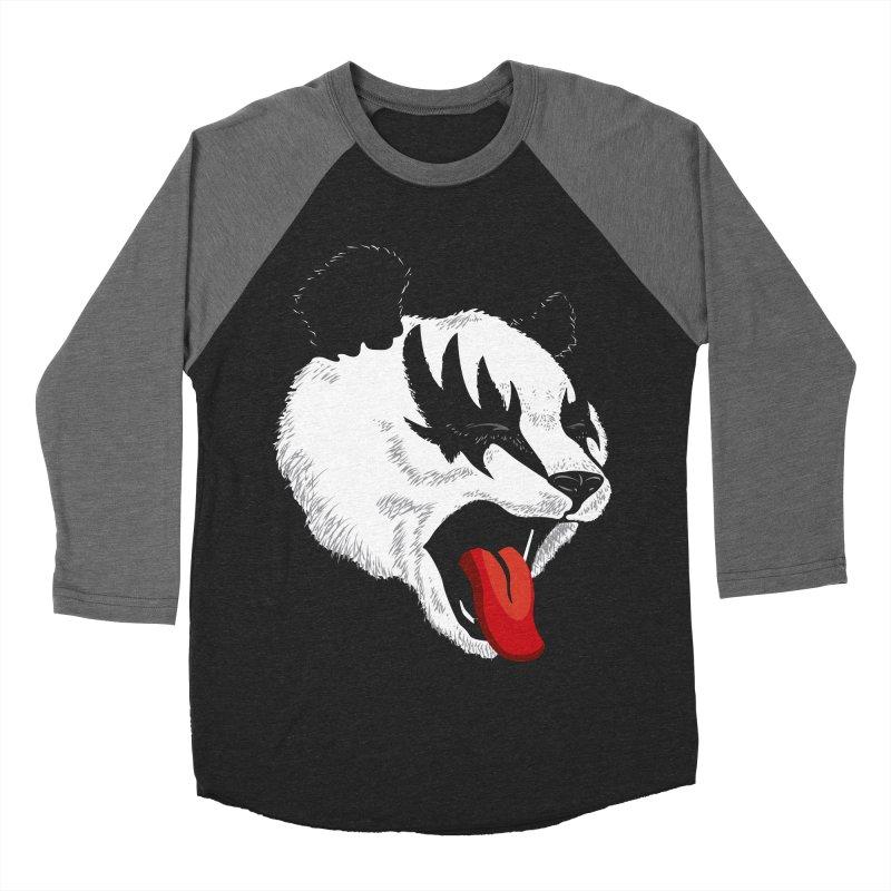 Kiss Panda Men's Baseball Triblend T-Shirt by garabattos's Artist Shop