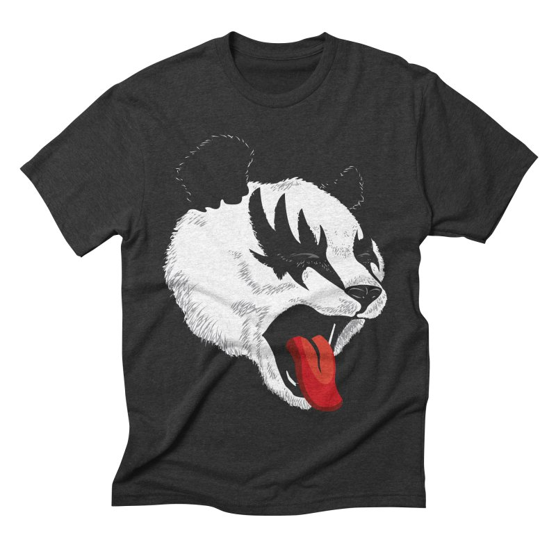 Kiss Panda Men's Triblend T-shirt by garabattos's Artist Shop