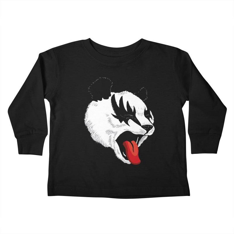 Kiss Panda Kids Toddler Longsleeve T-Shirt by garabattos's Artist Shop