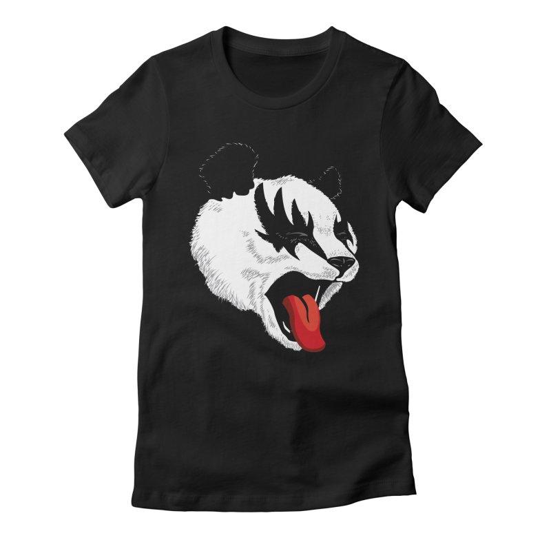 Kiss Panda Women's Fitted T-Shirt by garabattos's Artist Shop