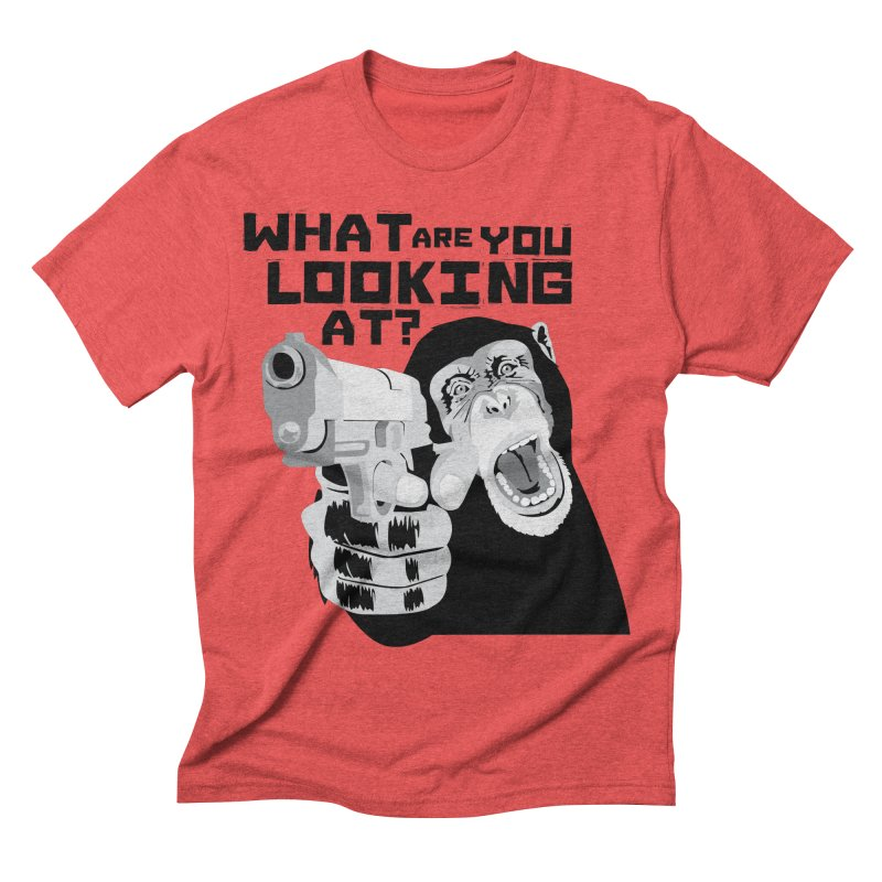 What are you looking at? Men's Triblend T-shirt by garabattos's Artist Shop