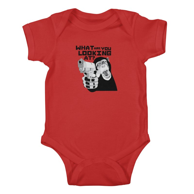 What are you looking at? Kids Baby Bodysuit by garabattos's Artist Shop