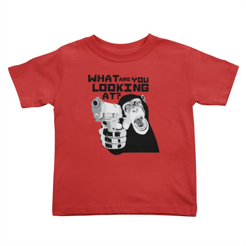 What are you looking at? Kids Toddler T-Shirt by garabattos's Artist Shop