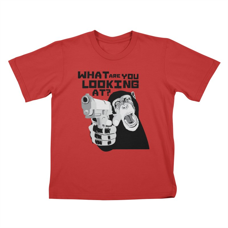 What are you looking at? Kids T-Shirt by garabattos's Artist Shop