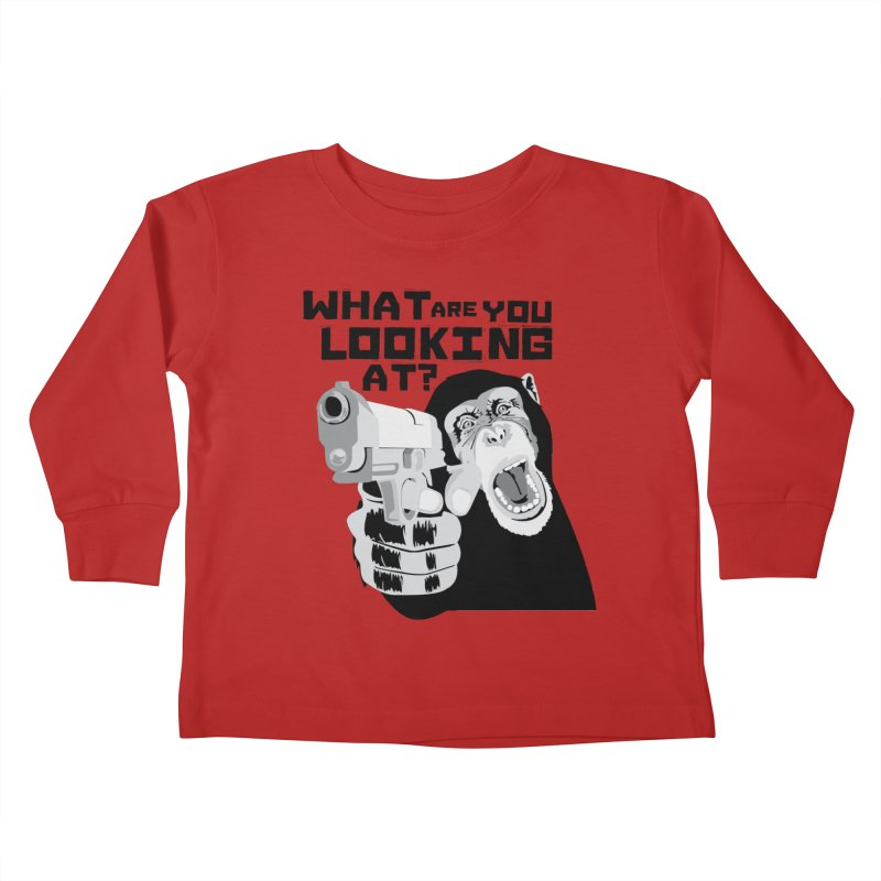 What are you looking at? Kids Toddler Longsleeve T-Shirt by garabattos's Artist Shop