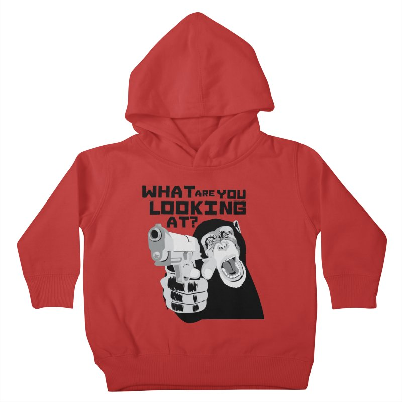 What are you looking at? Kids Toddler Pullover Hoody by garabattos's Artist Shop