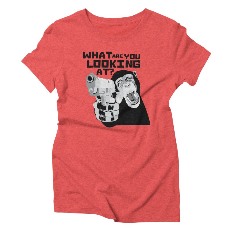 What are you looking at? Women's Triblend T-Shirt by garabattos's Artist Shop