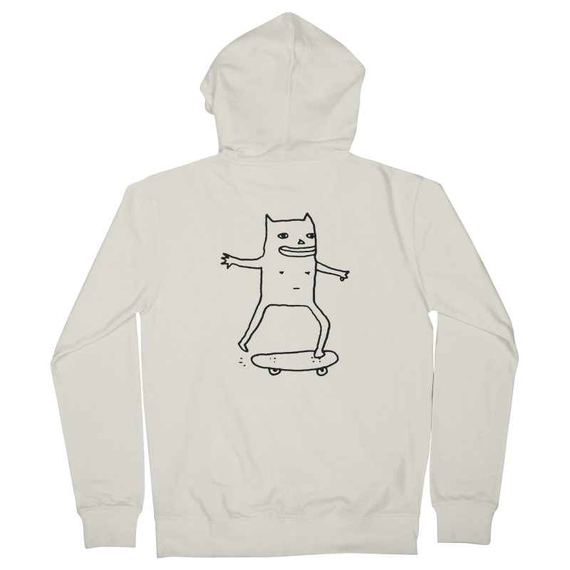 Naked Skate Men's French Terry Zip-Up Hoody by Garbage Party's Trash Talk & Apparel Shop