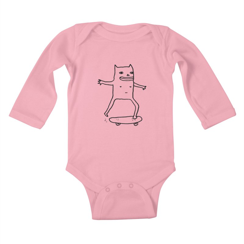 Naked Skate Kids Baby Longsleeve Bodysuit by Garbage Party's Trash Talk & Apparel Shop