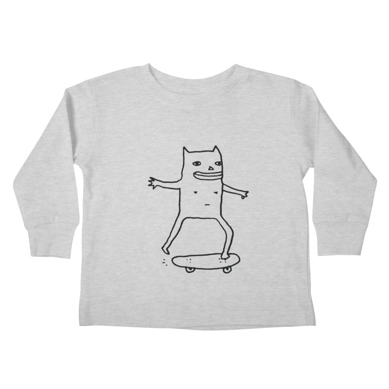 Naked Skate Kids Toddler Longsleeve T-Shirt by Garbage Party's Trash Talk & Apparel Shop