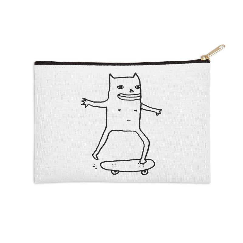 Naked Skate Accessories Zip Pouch by Garbage Party's Trash Talk & Apparel Shop
