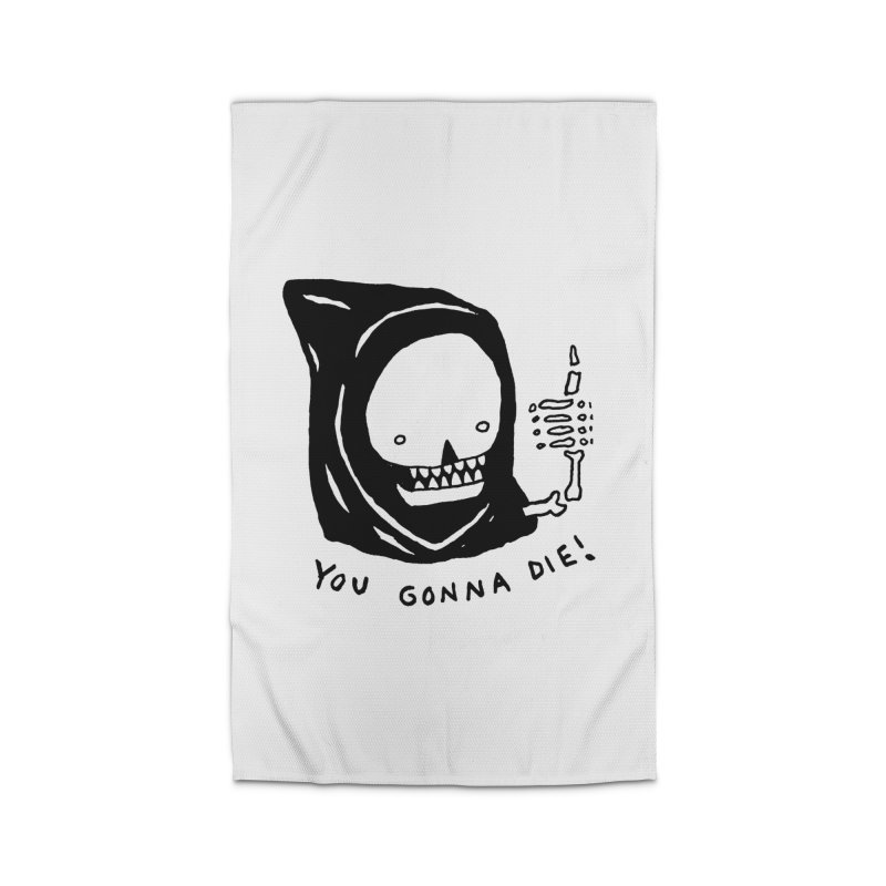 You Gonna Die! Home Rug by Garbage Party's Trash Talk & Apparel Shop