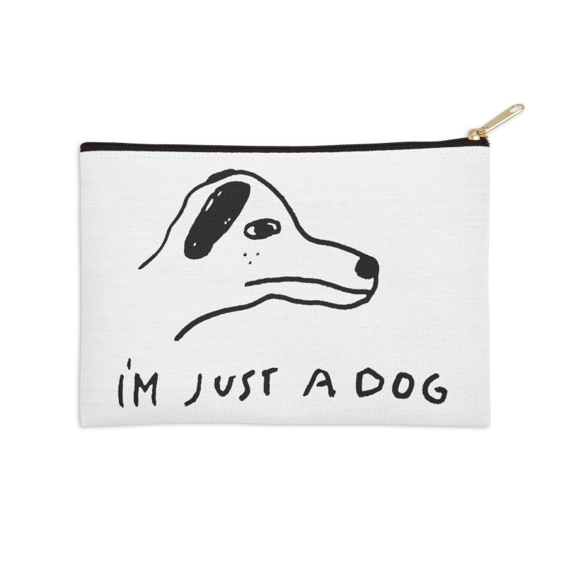 Just a Dog Accessories Zip Pouch by Garbage Party's Trash Talk & Apparel Shop