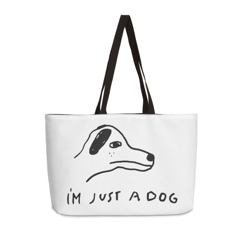 Just a Dog Accessories Weekender Bag Bag by Garbage Party's Trash Talk & Apparel Shop