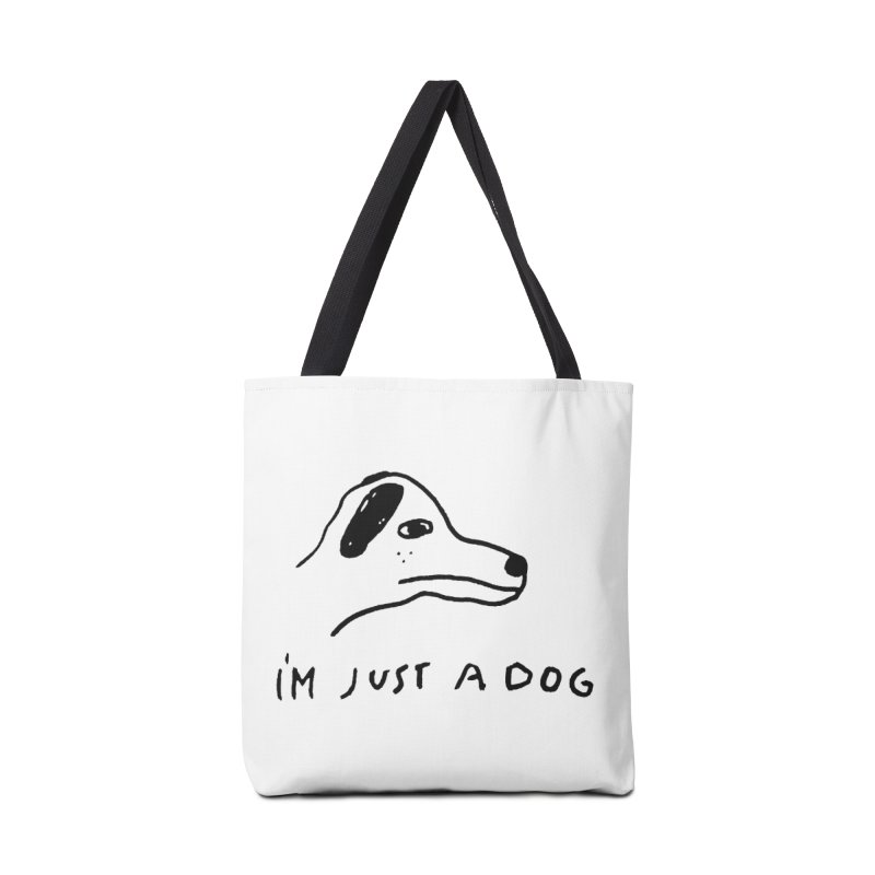Just a Dog Accessories Tote Bag Bag by Garbage Party's Trash Talk & Apparel Shop