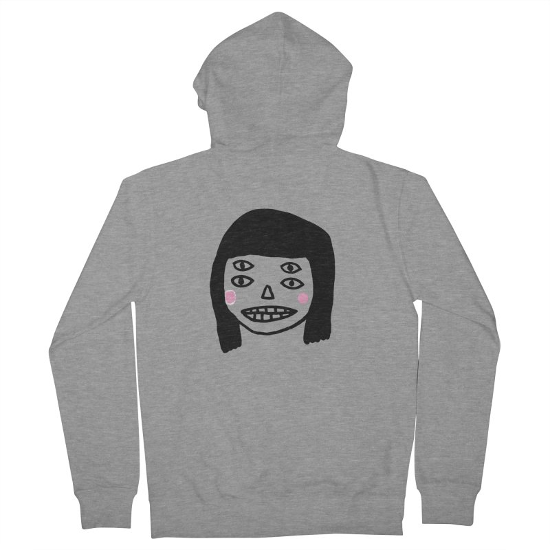 Creepy Girls Men's French Terry Zip-Up Hoody by Garbage Party's Trash Talk & Apparel Shop