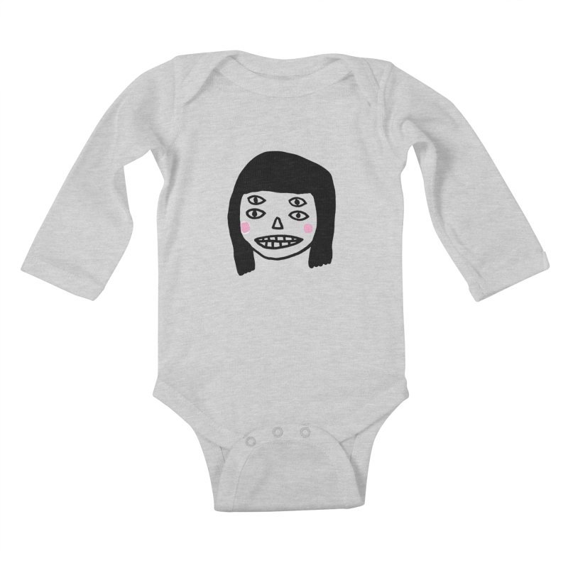 Creepy Girls Kids Baby Longsleeve Bodysuit by Garbage Party's Trash Talk & Apparel Shop