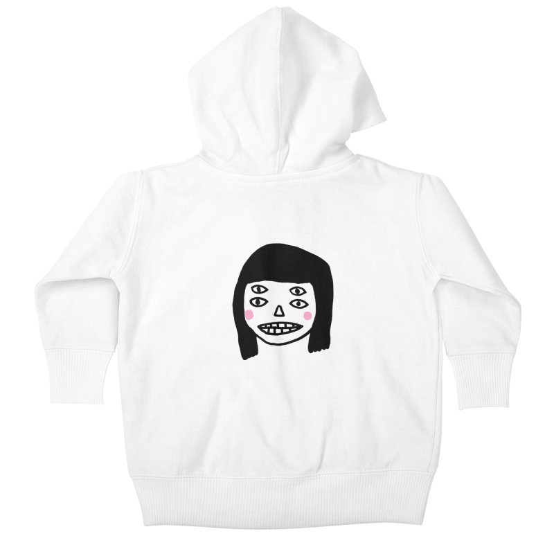 Creepy Girls Kids Baby Zip-Up Hoody by Garbage Party's Trash Talk & Apparel Shop