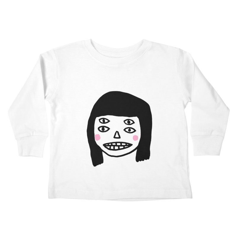 Creepy Girls Kids Toddler Longsleeve T-Shirt by Garbage Party's Trash Talk & Apparel Shop