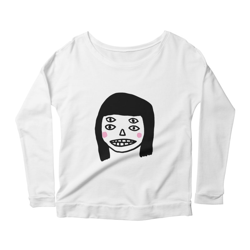 Creepy Girls Women's Scoop Neck Longsleeve T-Shirt by Garbage Party's Trash Talk & Apparel Shop