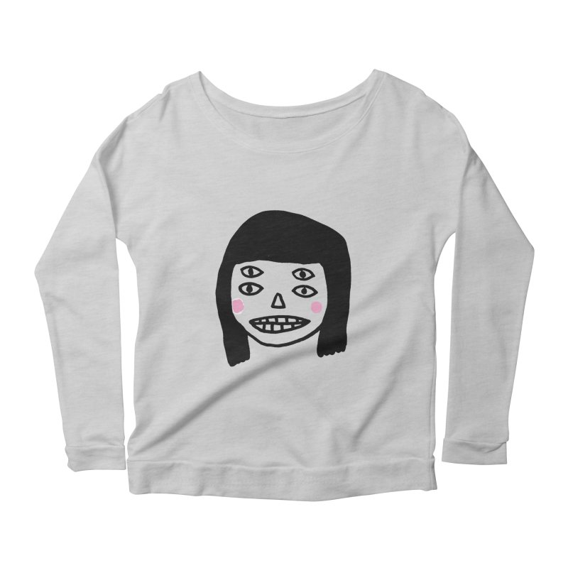 Creepy Girls Women's Longsleeve Scoopneck  by Garbage Party's Trash Talk & Apparel Shop