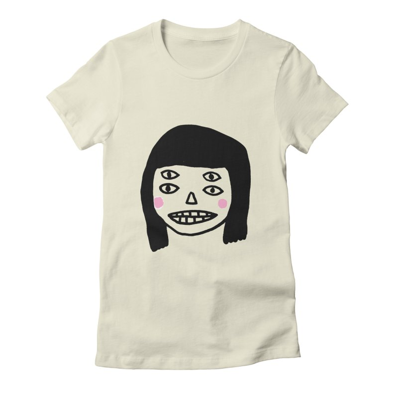 Creepy Girls Women's Fitted T-Shirt by Garbage Party's Trash Talk & Apparel Shop