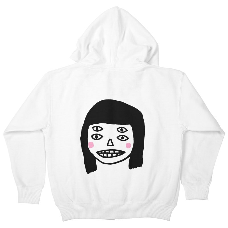 Creepy Girls Kids Zip-Up Hoody by Garbage Party's Trash Talk & Apparel Shop