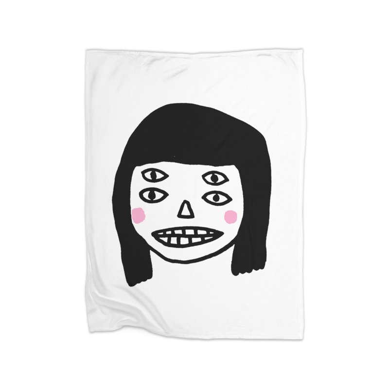 Creepy Girls Home Fleece Blanket Blanket by Garbage Party's Trash Talk & Apparel Shop