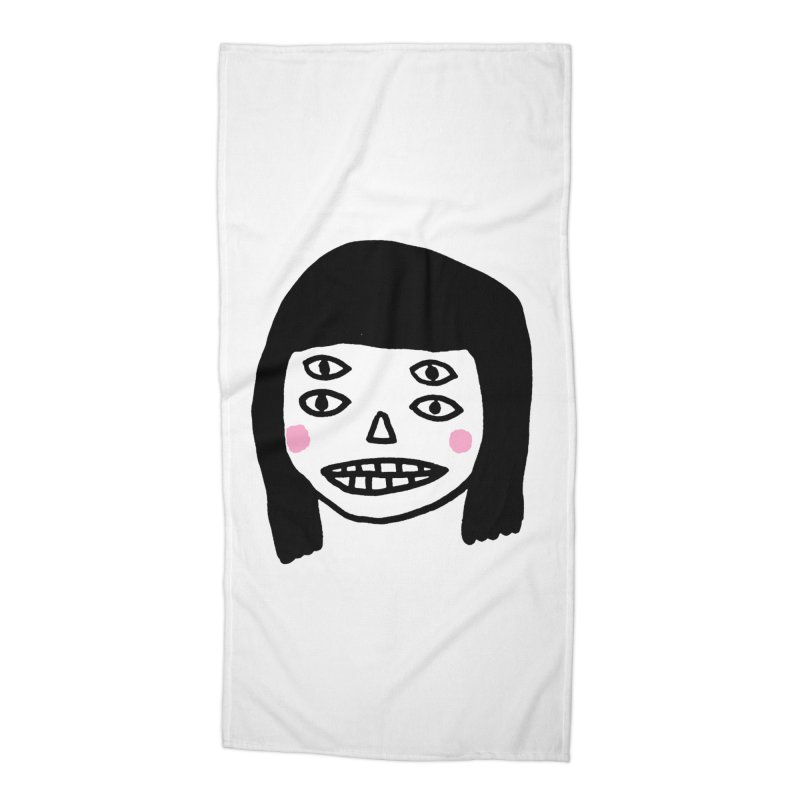 Creepy Girls Accessories Beach Towel by Garbage Party's Trash Talk & Apparel Shop