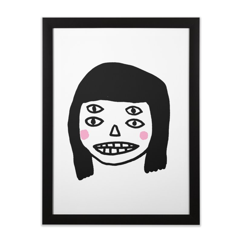 Creepy Girls Home Framed Fine Art Print by Garbage Party's Trash Talk & Apparel Shop
