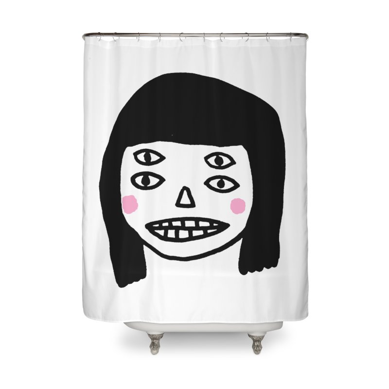 Creepy Girls Home Shower Curtain by Garbage Party's Trash Talk & Apparel Shop