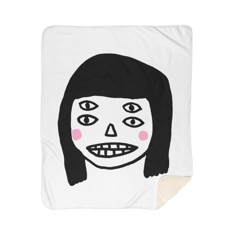 Creepy Girls Home Sherpa Blanket Blanket by Garbage Party's Trash Talk & Apparel Shop
