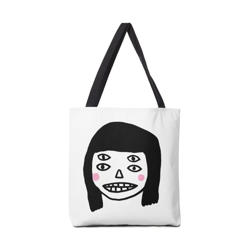 Creepy Girls Accessories Tote Bag Bag by Garbage Party's Trash Talk & Apparel Shop