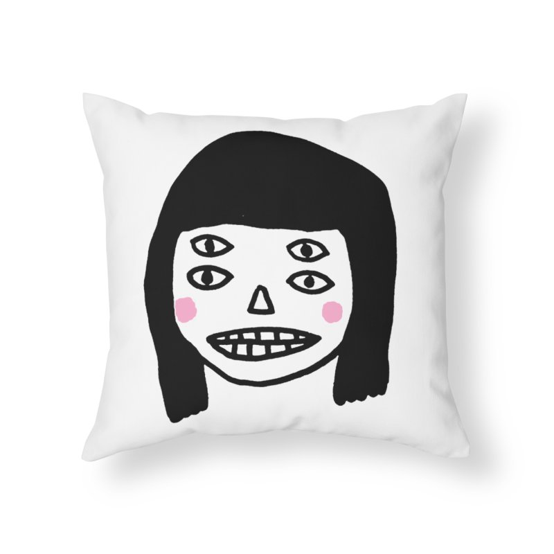 Creepy Girls Home Throw Pillow by Garbage Party's Trash Talk & Apparel Shop