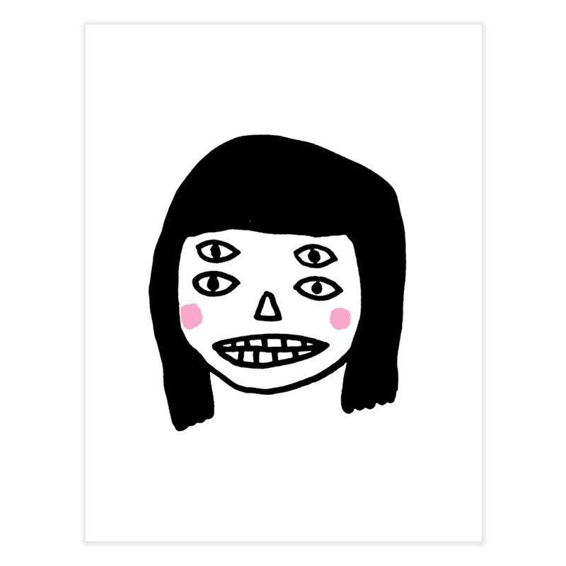 Creepy Girls Home Fine Art Print by Garbage Party's Trash Talk & Apparel Shop