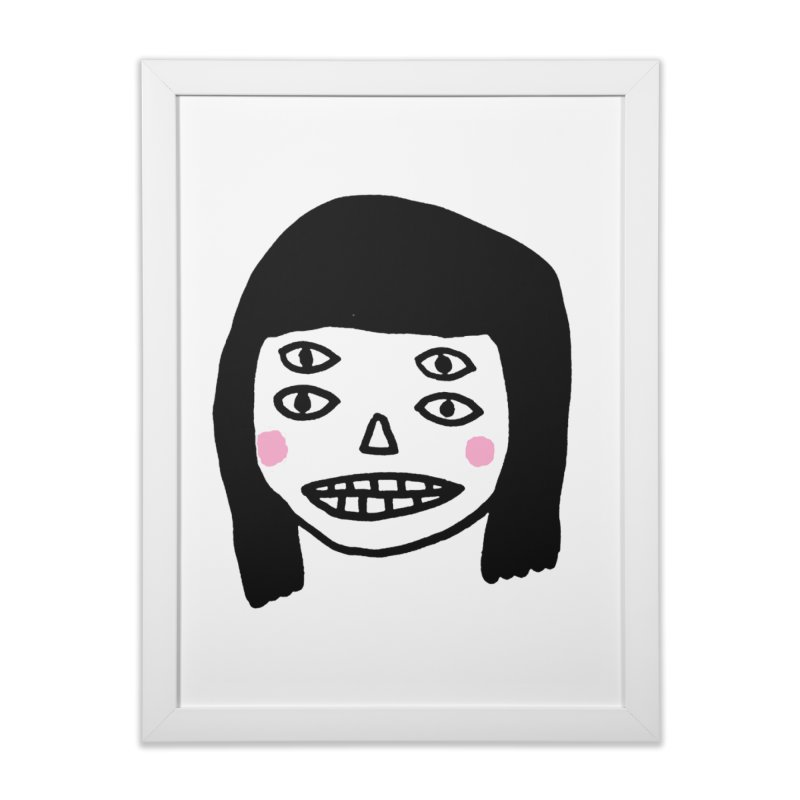 Creepy Girls Home Framed Fine Art Print by Garbage Party's Trash Talk & Apparel Shop